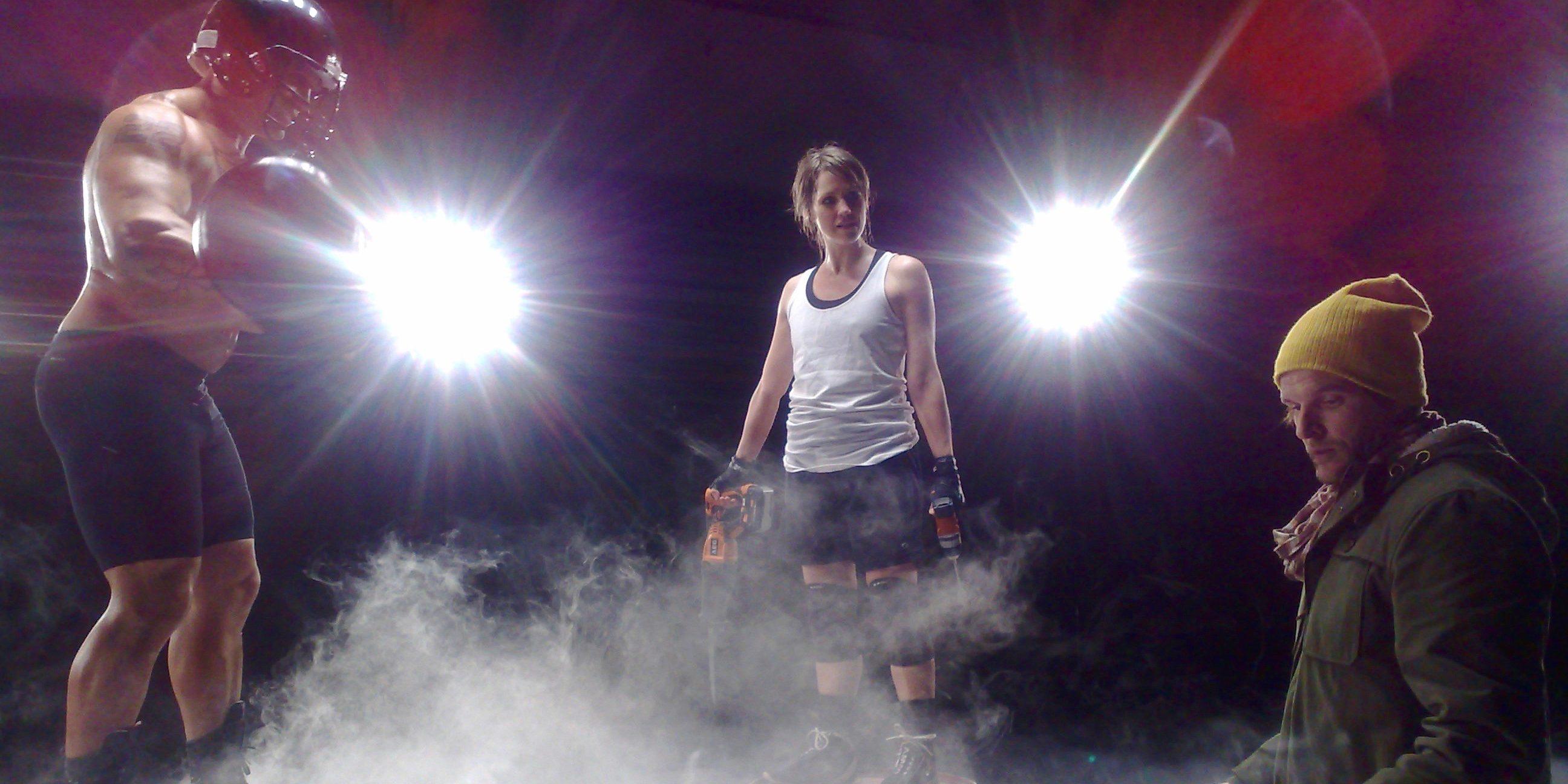 Lena Ringqvist som Carina Bauhaus mot gladiatorn Hero 2012